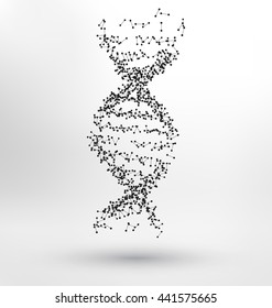 Abstract Molecule based human DNA concept - human DNA made of dots and lines