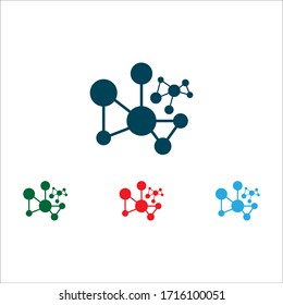 abstract molecule icon illustration template design logo and symbol vector