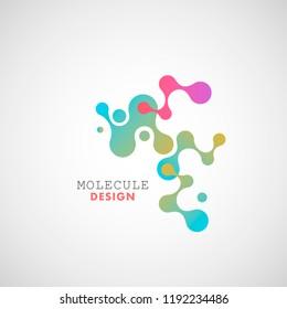 Abstract molecule vector design template.