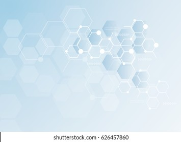 Abstract molecules medical background. illustration