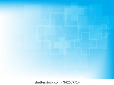 Abstract molecules medical background (Vector illustration).