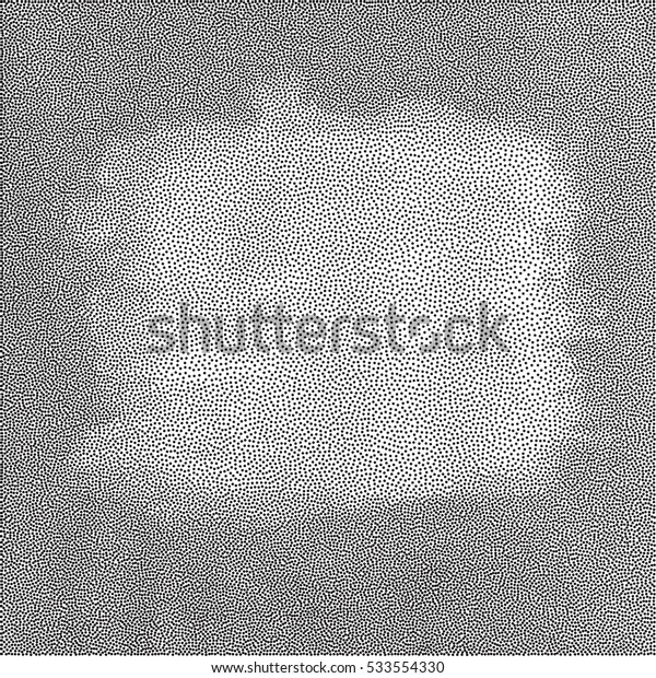 Abstract monochromatic grunge dotted background, vector design element.