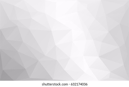 Abstract monochrome, black and white, polygonal background, vector