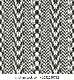 Abstract Monochrome Chevron Stripe Textured Background. Seamless Pattern.