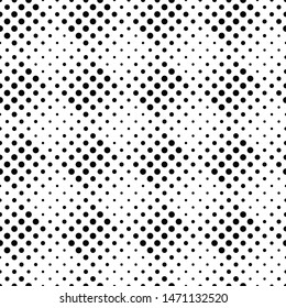 Abstract monochrome dot pattern background - black and white vector illustration