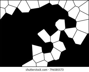 Abstract Monochrome Firing Godzilla Voronoi Vector