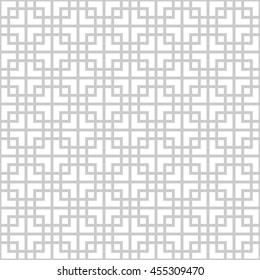 Abstract monochrome seamless pattern in asian style
