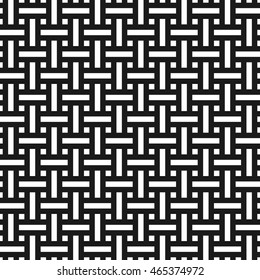 Abstract monochrome seamless pattern in asian style. Weave texture
