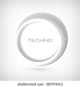 abstract monochrome swirly illustration, logo design, round line icon, round logo, circle item, swirl elements