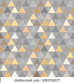 abstract monocolour vector geometric trangles seamless pattern
