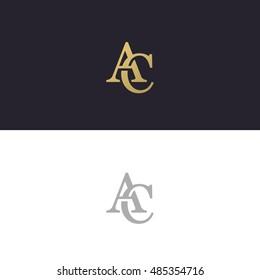 Abstract monogram elegant logo icon vector design. Universal creative premium letters AC initials signature symbol. Vector sign.