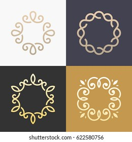 Abstract monogram elegant logo icon vector design. Universal creative premium symbol.