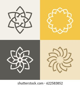 Abstract monogram elegant logo icon vector design. Universal creative premium symbol.