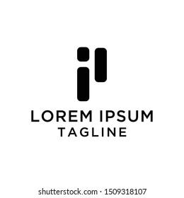 Abstract Monogram IP Logo Template