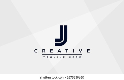 Abstract monogram letter J logo icon design template. Minimalist J JJ creative initial based vector template.