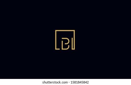 Abstract monogram letters logo BI,IB,I, and B