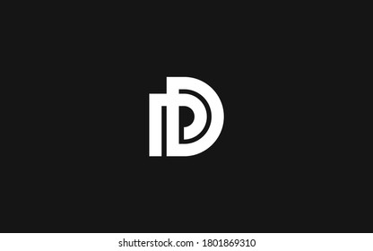 Abstract monogram logotype DP or PD vektor