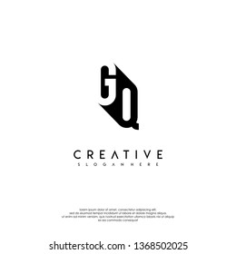 abstract monogram in the shadow, GQ logo letters design concept