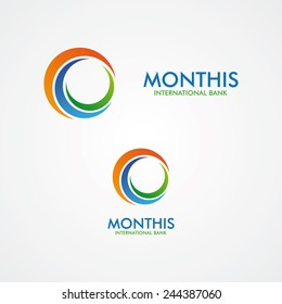 Abstract  month or sun  logo