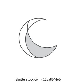 Abstract moon logo template vector night icon design
