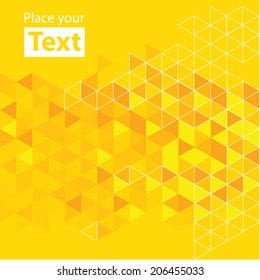 Abstract mosaic background. Hot yellow cubic geometric background. Design elements. Layered file
