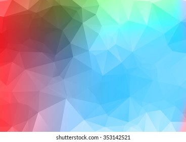 Abstract mosaic background. multicolor red blue geometric rumpled triangular low poly style illustration graphic texture. Vector polygonal design business.