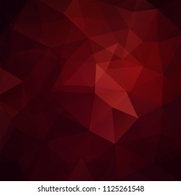 Abstract mosaic background. Triangle geometric background. Design elements. Vector illustration. Dark red, brown colors.