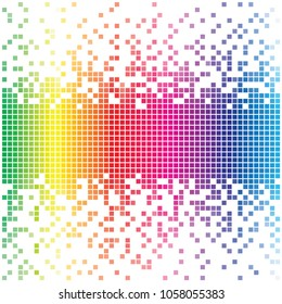 Abstract mosaic of concave spectrum, vector template