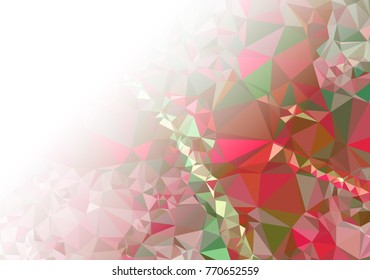 Abstract mosaic decorative background with a blank space for text or photo. Copy space. Vector clip art.