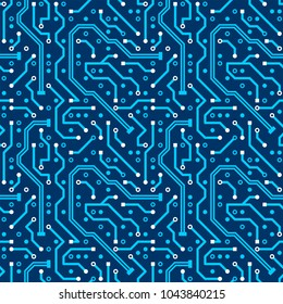 Abstract motherboard background. Seamless pattern