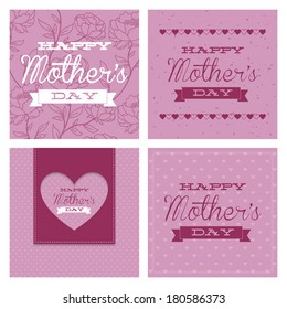 abstract mother's day text on a special background