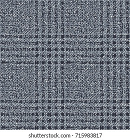 Abstract mottled Prince of Wales checked motif. Seamless pattern.