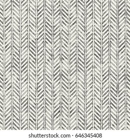 Abstract mottled zigzag motif striped textured background. Seamless pattern.