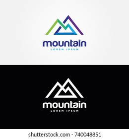 Abstract Mountain Shape Logo