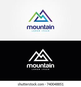Abstract Mountain Shape Logo