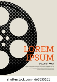 Abstract movie and film modern retro vintage poster background vector illustration