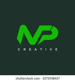 Abstract MP NP Letter Logo Design