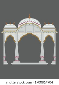 abstract mughal Indian architecture. vector