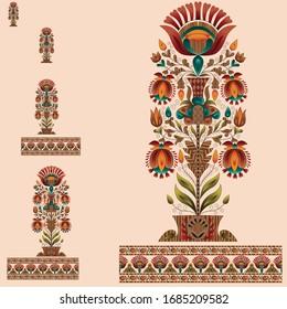 abstract mughal motif bunch bunch design