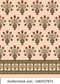 abstract mughal motif bunch pattern
