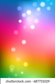 Abstract multi colors background with bokeh. Vector illustration can use for background greeting card and poster.