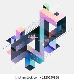 abstract multicolor geometrical composition