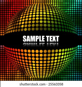 Abstract Multicolor Spherical Background with space for text.