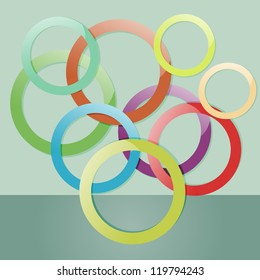 Abstract multicolored circles background