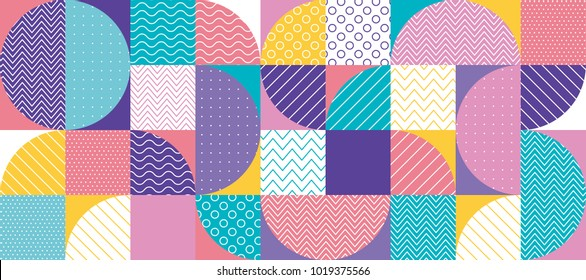 abstract multicolored geometric pattern in pastel color. stock vector illustration. Spring blue, green, pale rose and violet motif for surface design, cover, wrapping paper.