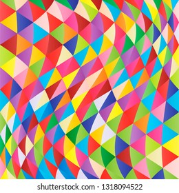 Abstract multi-colored geometric vector background