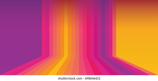Abstract multicolored London World Championships color athletics background, instagram rainbow stripes, followers icons, sunset, dynamic Vector social media icons print, Web sport orange violet 2020