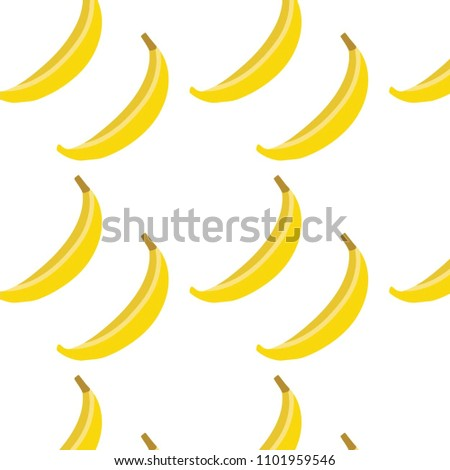 Abstract Multicolored Pattern Food Banana Background Stock Vector