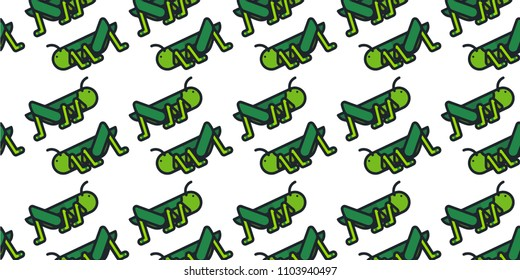 Abstract multicolored pattern with grasshopper background for fabric, textiles, clothing, wallpaper, wrapping paper, backpack, socks, bedding