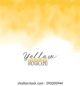 Abstract multiply colorful watercolor background in yellow color. Grunge paint design. Vector illustration.